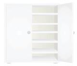 White closet. Open door. vector