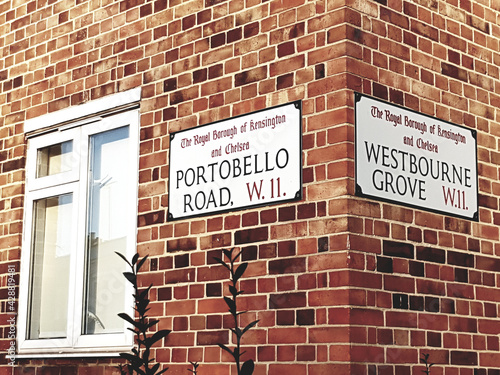London Street Sign, Portobello Road #428819481