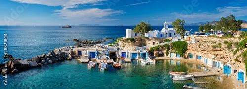 Mandrakia village in Milos island, Greece Fototapet
