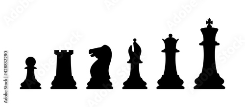 Foto Chess pieces vector illustration