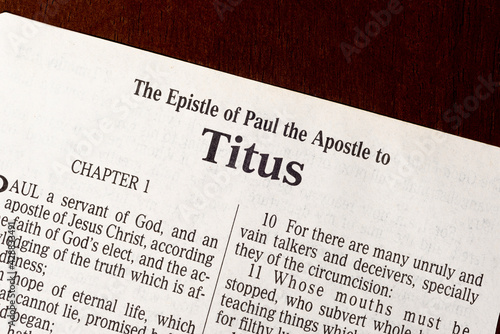 Photo The Book of Titus Title Page Close-up