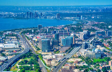 Aerial View Of The Toronto Downtown, Canada