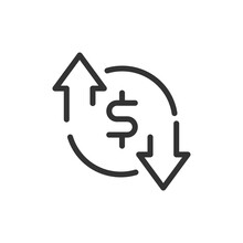 Premium Currency Line Icon For App, Web And UI.