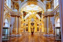 Interiors Of Grand Church Of Winter Palace (Hermitage Museum), Saint Petersburg, Russia