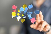 Communication Paper Speak Bubble Digital