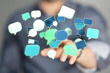 Communication Speak Bubble Digital Concept