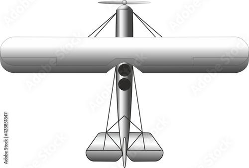 Tela Soviet reconnaissance aircraft and light bomber, on a white background