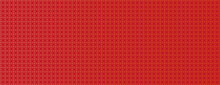Pattern With Gold Rounds On Red Background