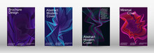 Creative Fluid Backgrounds From Current Forms To Design A Fashionable Abstract Cover, Banner, Poster, Booklet.