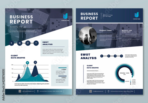 Business Report Flyer Editable Layout