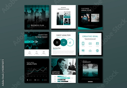 Business Marketing Plan Editable Layout Set