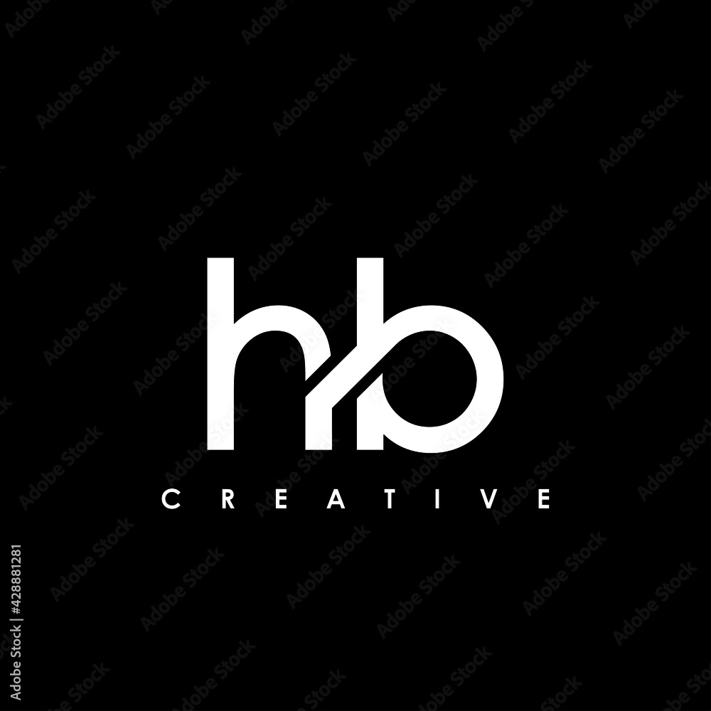Fototapeta HB Letter Initial Logo Design Template Vector Illustration