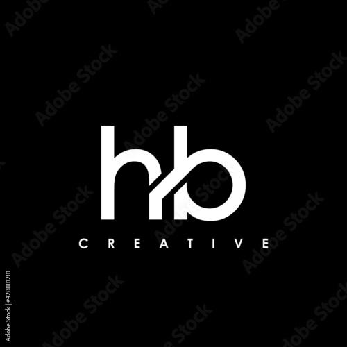 Obraz HB Letter Initial Logo Design Template Vector Illustration - fototapety do salonu