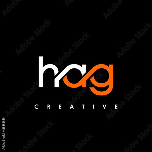 Fototapeta HAG Letter Initial Logo Design Template Vector Illustration