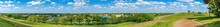 Ultrawide Panorama From A Hilltop At Vista View Park - Davie, Florida, USA