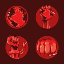 Four Revolution Icons