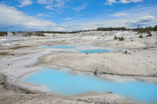 Ponds At Norris Geyser Basin In Yellowstone Park