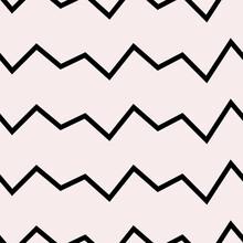 Scribble Zig Zag Pattern. Vector.