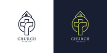Illustrations Of Church Logo Design Concept