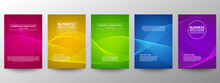 Cover Geometric Minimal. Set. Vector Abstract Line Pattern For Poster Design. Set Of Templates For Business Brochures. Cool Gradients. Graphic Pattern For Annual Album Backdrop.