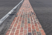 The Yard Of Bricks At Indianapolis Motor Speedway. IMS Is Preparing For The Indy 500 And Brickyard 400 In The Age Of Social Distancing.