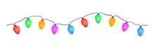 Seamless Multicolored Garland. Vector Illustration. Festive Decoration.