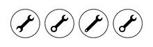 Wrench Icon Set. Repair Icon Vector. Tools Icon Vector