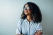 Leinwandbild Motiv Mature businesswoman looking away and smiling
