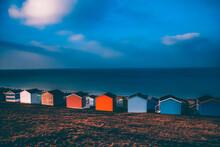 Row Of Beach Huts, Whitstable, Kent, UK