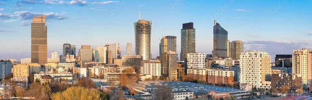 Fototapeta Warszawa, panorama miasta