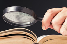 Magnifying On Opened Book