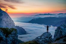 Amazing Sunrise Somewhere In The Bavarian Alps