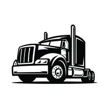 Semi Truck 18 Wheeler Vector Isolated