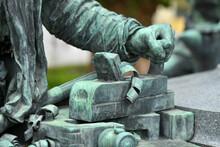 Oberösterreichische Landesausstellung 2021 - Werndl-Denkmal In Steyr, Österreich, Europa - Upper Austrian Provincial Exhibition - Werndl Monument 2021 In Steyr, Austria, Europe