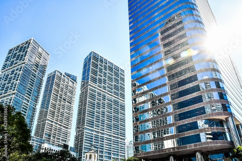 modern building in miami city florida usa america Fototapete