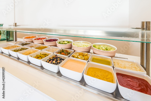 Food court on travel destination Fototapete