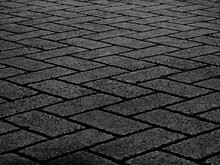 Black Stone Block Walkway Texture