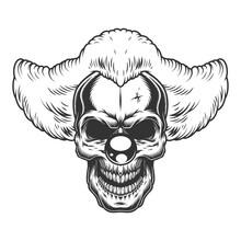 Skull Angry Clown