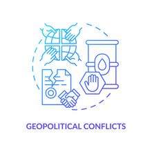 Geopolitical Conflicts Concept Icon. Energy Security Idea Thin Line Illustration. Political Factor. Attacks On Supply Infrastructure. Global Consequences. Vector Isolated Outline RGB Color Drawing
