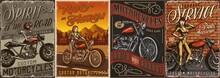 Custom Motorcycle Vintage Posters