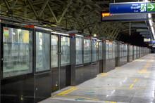 A View Of Metro Station Of Kolkata East West Metro System At Phoolbagan, Kolkata, India On April 2021