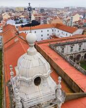 Aerial View Of Convento De Nossa Senhora Da Graça, A Nuns Convent In Graca District Old Town, Lisbon, Portugal.