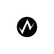 W Initial Mountain Logo Design Vector Symbol Graphic Idea Creative