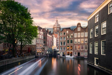 The Traditional Dutch Houses Of Amsterdam, The Netherlands