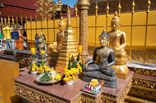 Buddha Statue At Wat Phra That Cho Hae Is A Sacred Ancient Temple In Phrae, Thailand. Publie Domain.