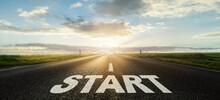 Start Neuanfang Ziel Weg