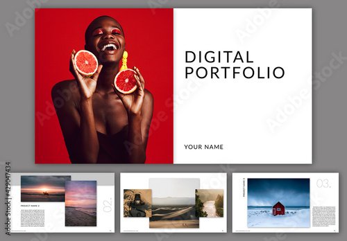 Digital Portfolio Layout