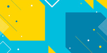 Abstract Flat Colorful Geometric Shapes Background