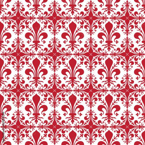 Obraz na plátně Pattern background with red florentine lily