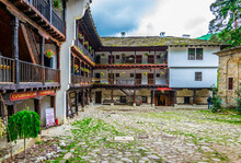 View Of An Inner Courtyard Of The Famous Troyan Monastery In Bulgaria